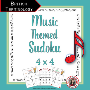 Music Games: SUDOKU  4 x 4 British Terminology