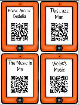 Music QR Code Read Aloud Listening Centers