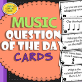 Music Question of the Day Cards (Music Assessments to Star