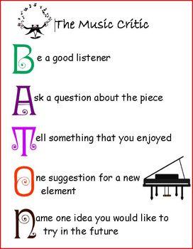 B-A-T-O-N for Music Critique