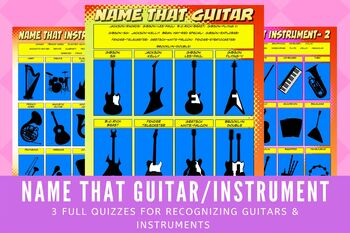 Music Quiz: Name that Guitar/Instrument – 3 QUIZZES