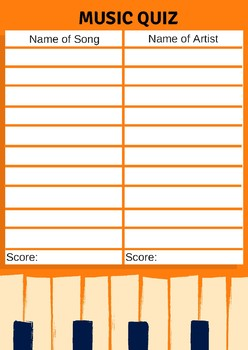 Music Quiz Printable