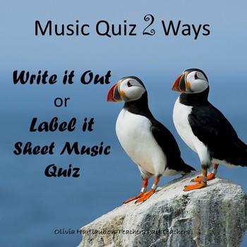 Music Quiz Two Ways