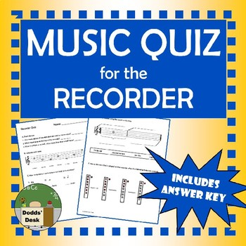 Music Quiz for the Recorder