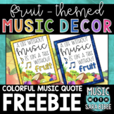 Music Quote - Fruit Theme {FREEBIE!} A Life Without Music...