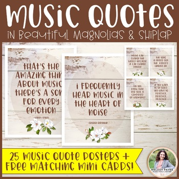 Music Quote Posters Plus FREE Mini Cards