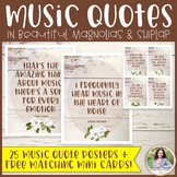 Music Quote Posters Plus FREE Mini Cards {Magnolia Music Class Decor}