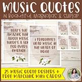 Music Quote Posters Plus FREE Mini Cards {Magnolia Music C