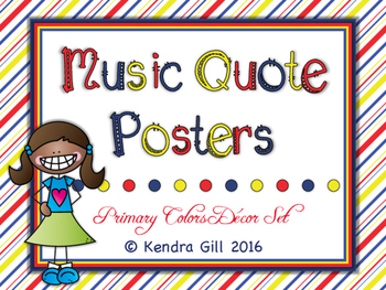 Music Quote Posters - Primary Color Themed