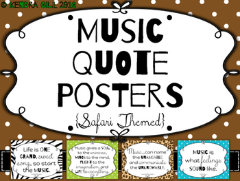 Music Quote Posters - Safari Themed
