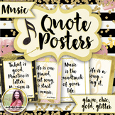 Music Quote Posters to Encourage and Inspire {25 Chic & Glam Signs, 8.5x11}