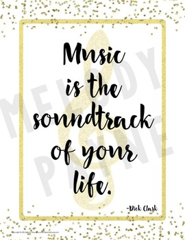 ‪Music Quote Posters to Encourage and Inspire {25 Chic & Glam Signs, 8.5x11}