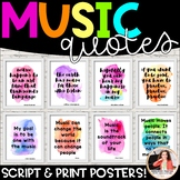 Music Quote Posters to Encourage and Inspire {25 Signs: Wa