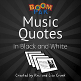 Bulletin Board - Music Quotes – (18 Printables)