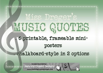 Music Quotes: Chalk Theme