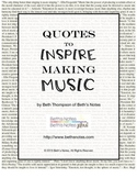 Music Quotes to Inspire Making Music