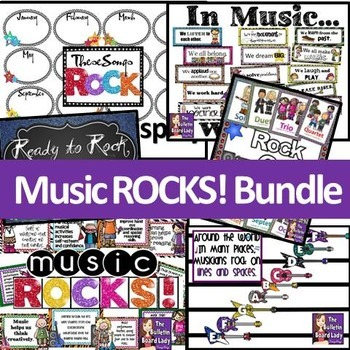 Music ROCKS Classroom Decor Bundle