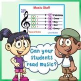 Elementary Music Reading Activities Bundle