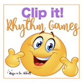 Music Reading: Clip-It Games {Rhythmic Sets}