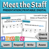 Music Reading Activity: Meet the Music Staff