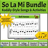 Music Reading Activity BUNDLE: So, La, Mi Songs to Read & Sing