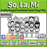 Music Reading BUNDLE: So, La, Mi Songs to Read & Sing, Qua