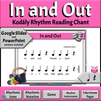 Music Reading Activity, Rhythm Chant to Read & Play, Quarter Note/Rest–In & Out