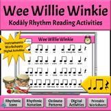 Music Rhythm Activities, Quarter Note/Rest, Eighth Notes - Wee Willie Winkie