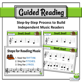 Music Reading Activities: So, La, Mi Song to Read & Sing - Snail, Snail