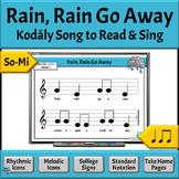 Music Reading: So-Mi Song to Read & Sing - Rain, Rain Go Away