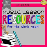 1st Grade Music Resources (First Grade Music Activities and Worksheets-Set #1)