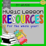 3rd Grade Music Resources (Third Grade Music Activities and Worksheets-Set #1)