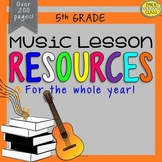 5th Grade Music Resources (Fifth Grade Music Activities and Worksheets-Set #1)