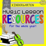 Music Resources (Kindergarten Music Activities and Worksheets-Set #1)