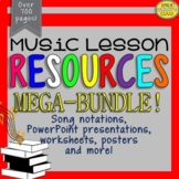 Music Resources MEGA-BUNDLE Set #1 (Music lesson companion)