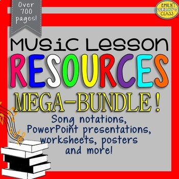 Elementary Music Resources MEGA-BUNDLE Set #1 (Music lesson plan companion)