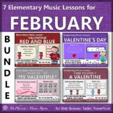 Elementary Music Lessons for February: Orff, Rhythm, Melod
