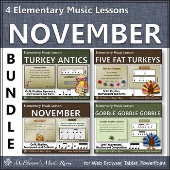 Elementary Music Lessons for November {Bundle}