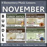Thanksgiving Music: Elementary Music Lessons for November {Bundle}