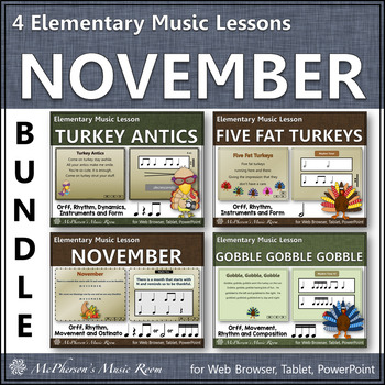 Elementary Music Resources for  November {Bundle}
