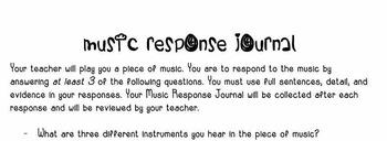 Music Response Journal