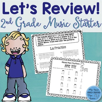 Music Review Workbook: Second Grade Starter