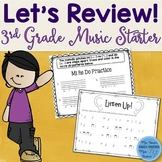 Music Review Workbook: Third Grade Starter