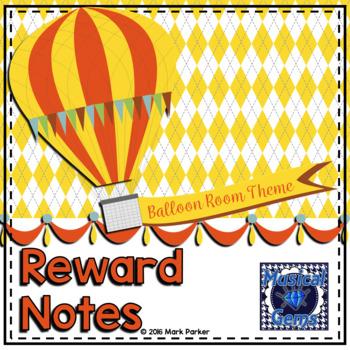 Music Reward Notes- Balloon Theme