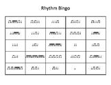 Music Rhythm Bingo