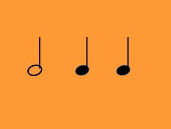 Music Rhythm Cards Level 1 - Orange