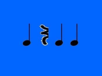 Music Rhythm Cards Level 2 - Blue