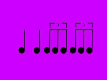 Music Rhythm Cards Level 9 - Purple
