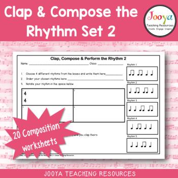Music Rhythm Composition Worksheets Bundle - 1-5