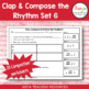 Music Rhythm Composition Worksheets Bundle - 6-10